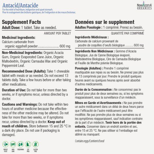 Antacid nutritional information