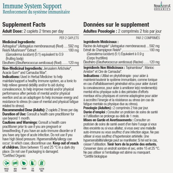 Immune System Support nutritional information