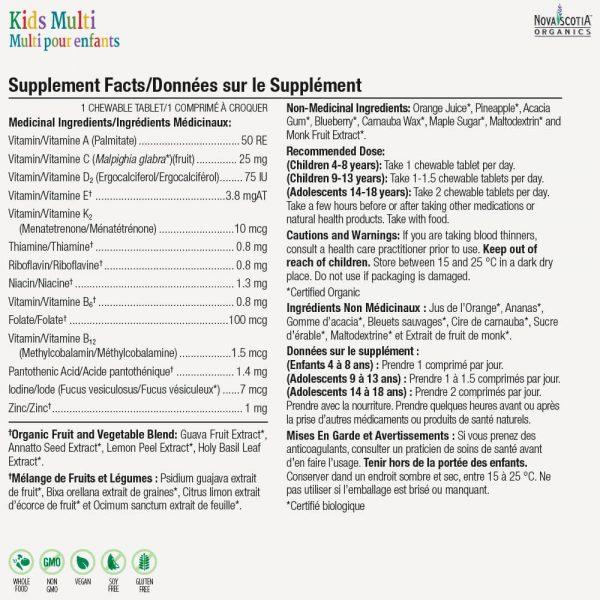 kid's multivitamin nutritional information
