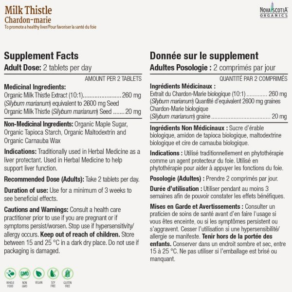 Milk Thistle nutritional information