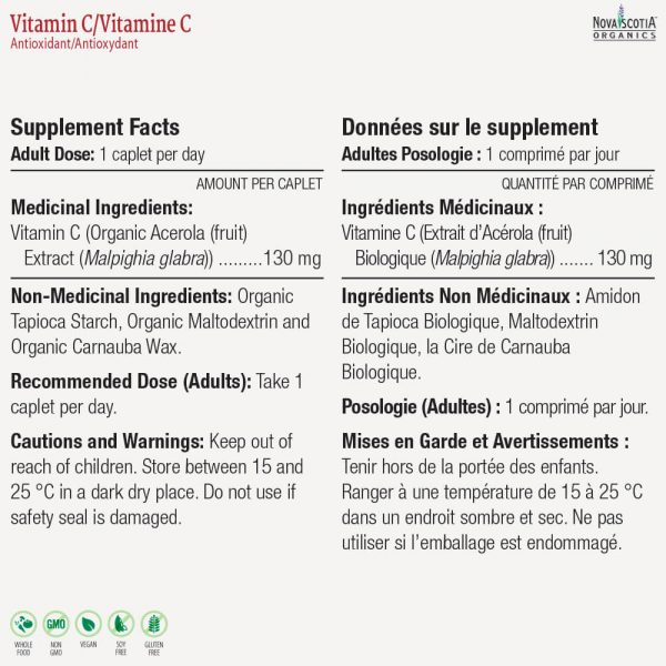 Vitamin C nutritional information