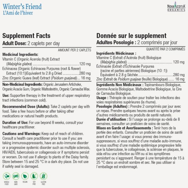 winters friend nutritional information